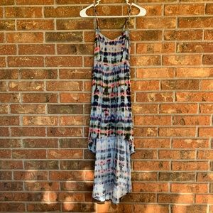 Mimi Chica tie-dye high low dress